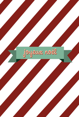 Joyeux Noel Christmas Card