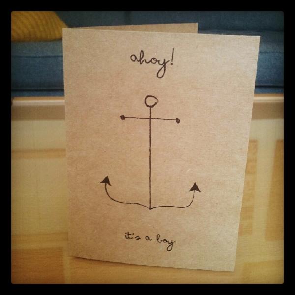Baby Boy Anchor Card
