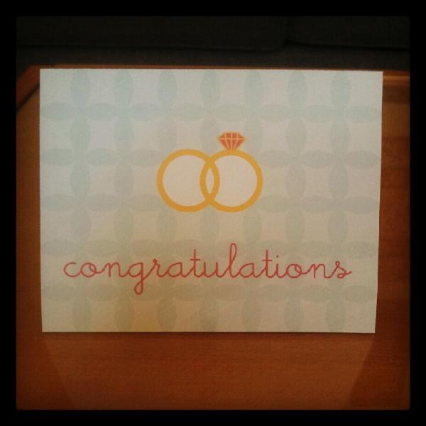 Congratulations Rings Card