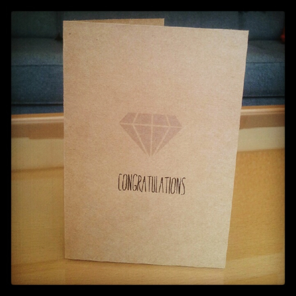 Congratulations Diamond Card