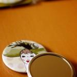 Hat Illustrated Pocket Mirrors