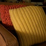 Knitted pillowcases