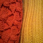 Knitted pillowcase close